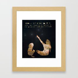 You Taught Me the Names of the Stars Overhead Framed Art Print