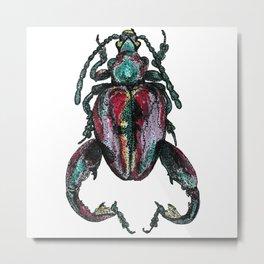 Purple Beetle Metal Print