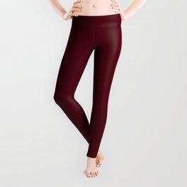 Dark Burgundy - Pure And Simple Leggings
