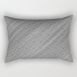 Metal - Silver checker plate Rectangular Pillow