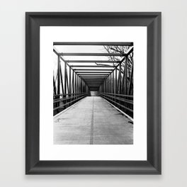 Bridge to Nowhere Black and White Photography Framed Art Print
