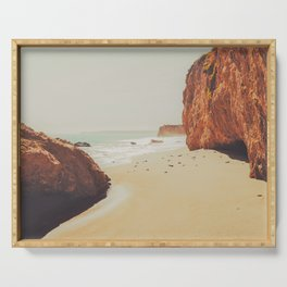 Beach Day - Ocean, Coast - Landscape Nature Photography Serving Tray