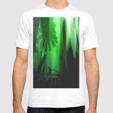 Deep in the rain forest. MEDIUM White Mens Fitted Tee