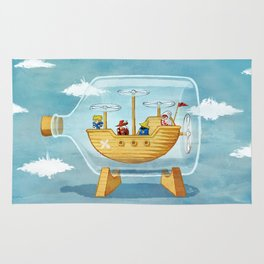 AIRSHIP IN A BOTTLE Rug