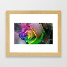 late night rainbows Framed Art Print