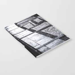 lines and stairs in black and white Notebook