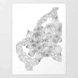 BW Sea Bulbs Art Print