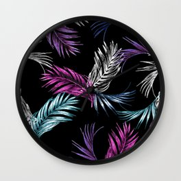 Midnight Tropical Wall Clock