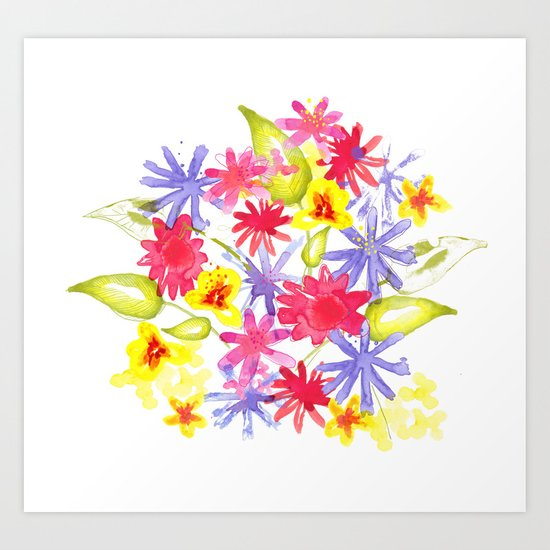 Fresh Flowers Art Print