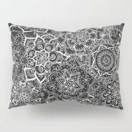 Delicate Lace Mandala Pattern Pillow Sham