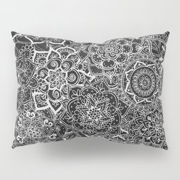 Delicate Lace Mandala Pattern Pillow Sham