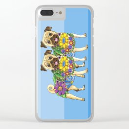 Pug Pals Clear iPhone Case