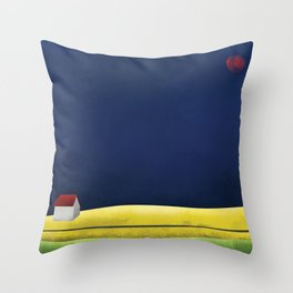 Simple Housing   A night in the life Throw Pillow