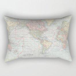 Vintage World Map (1901) Rectangular Pillow