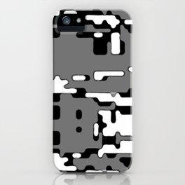 jitter, b&w 8 iPhone Case