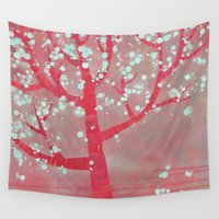 blossom Wall Tapestries featuring Blossom by Nic Squirrell