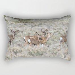 Group of Mule Deer Rectangular Pillow