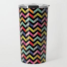 Chevron Multi Color Zigzag Pattern II Travel Mug