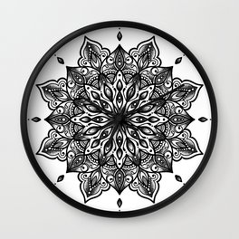 monika's mandala Wall Clock