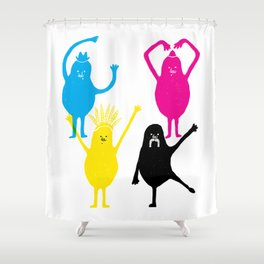 It's fun to print in CMYK Shower Curtain