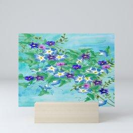 Watercolor Spring Bouquet  Mini Art Print