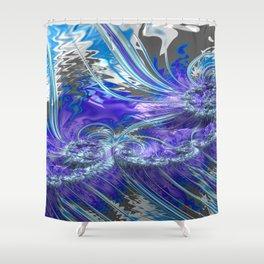 Grained Festiveness Fractal 4 Shower Curtain