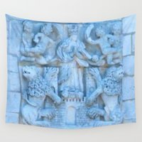 spanish Wall Tapestries featuring Spanish Monastery  by Gloria Larravide