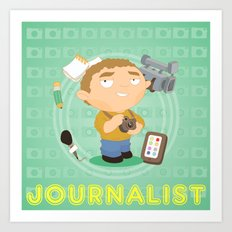 Journalist Art Print