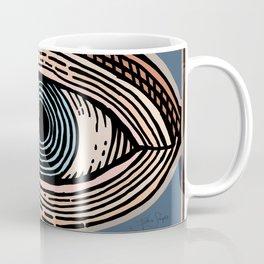 Engraved Eye Study in Color Coffee Mug