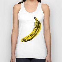 banana Tank Tops featuring Banana by June Chang Studio