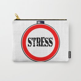Stress Traffic Sign Carry-All Pouch