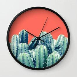 Cactus on Coral #society6 #decor #buyart Wall Clock