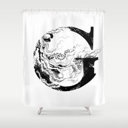 Fancy Marbled G Shower Curtain