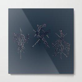3 Blue Runes Metal Print