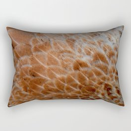 Feathers orange Rectangular Pillow