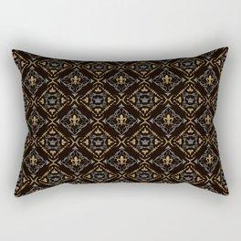 Fleur de Lis & Crown Pattern Rectangular Pillow