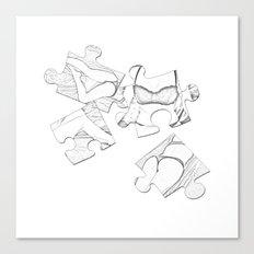 Puzzle Woman Canvas Print