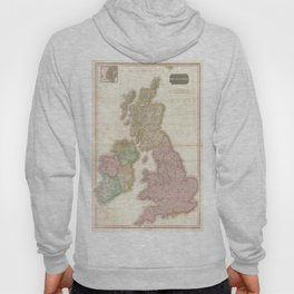 Vintage Map of The British Isles (1818) Hoody