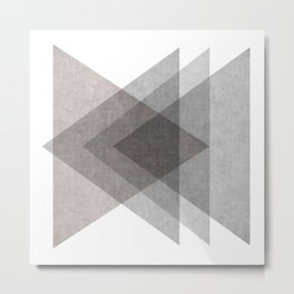 Geo Triangles Metal Print