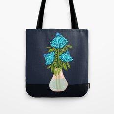 Blue Echinacea Tote Bag