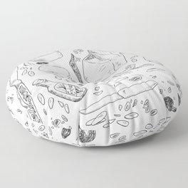 Baking Supplies Toile Floor Pillow