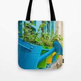 Watering Can Herb Garden Tote Bag