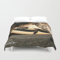 bdsm Duvet Covers featuring funny painting Sex Fuck transgender gay crossdress BDSM fetish sissy submissive owned fetish panty by Velveteen Rodent