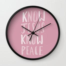 Know Jesus x Rose Wall Clock