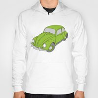 vw Hoodies featuring VW Beetle by tuditees
