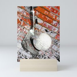 Modern Golf Art 3 Mini Art Print