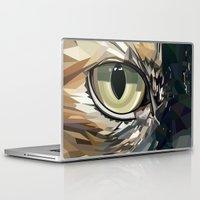 stevie nicks Laptop & iPad Skins featuring Stevie Cat by Kelli Holtman