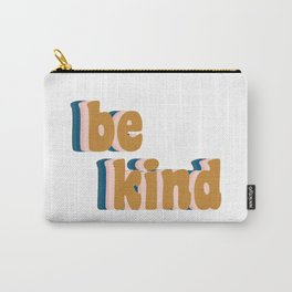 Be Kind Fun Retro Lettering Carry-All Pouch