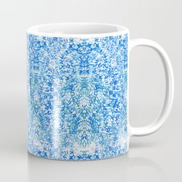 Blue Watercolor Sponge Pattern Coffee Mug