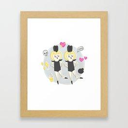 Emoji Babes Framed Art Print